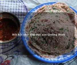 Bồi hồi nhớ mãi đặc sản Quảng Bình